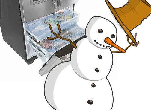 frost buildup freezer